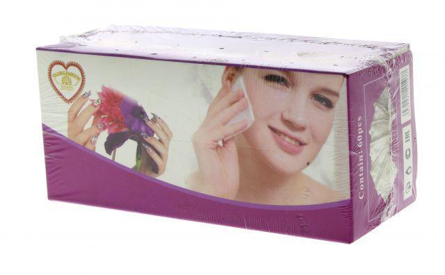 Безворсовые салфетки косметические 60 шт