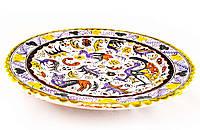 Тарелка с рисунком, керамика, ручная работа