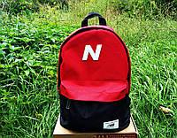 Рюкзак городской New balance Нью Беленс красно-черный (реплика)