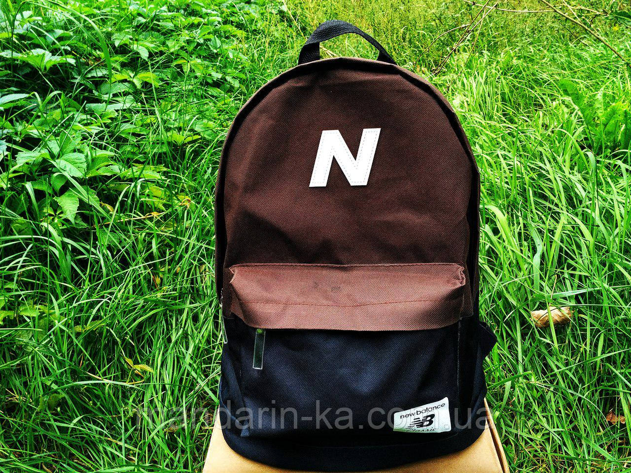Рюкзак городской New balance Нью Беленс коричнево-черный (реплика)
