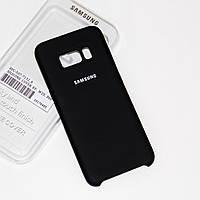 Силиконовый чехол на Samsung S8 Soft-touch Black