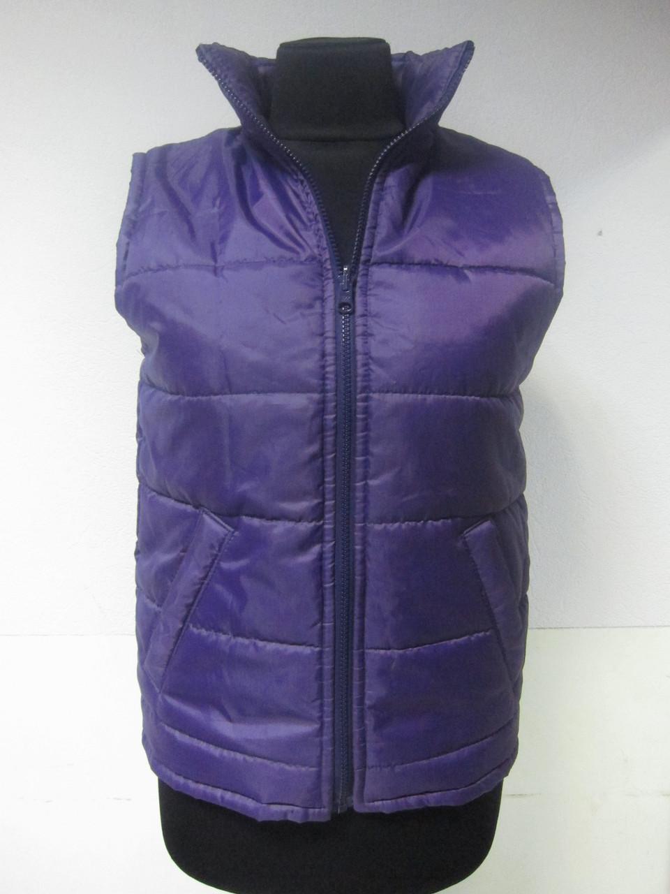 Жилетка стеганная рабочая утепленная на синтепоне фиолетовая Atteks - 01207