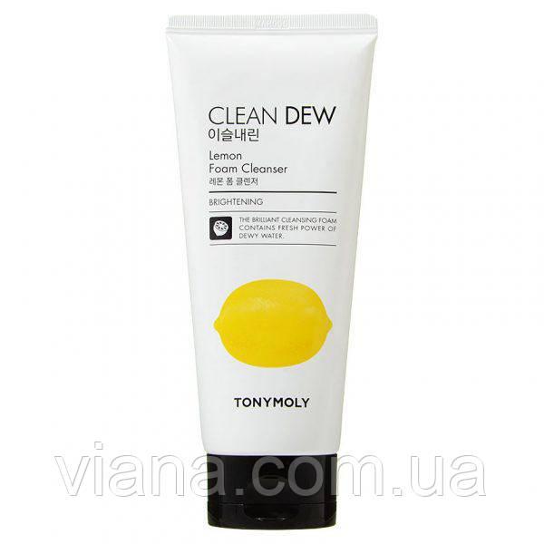 Пенка для лица с экстрактом лимонаTONY MOLY Clean Dew Lemon Foam Cleanser180 мл