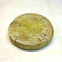 Срез (спил) шлифованный без коры с трещинами 22-24см