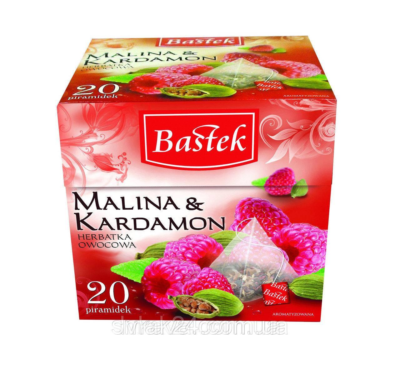 Чай фруктовый Malina & Kardamon Bastek (малина и кардамон)  20 пирам. Польша