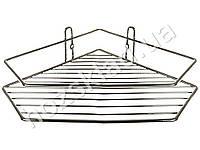 Полка в ванную угловая одноярусная Stenson хром. 20.5*20.5*7см