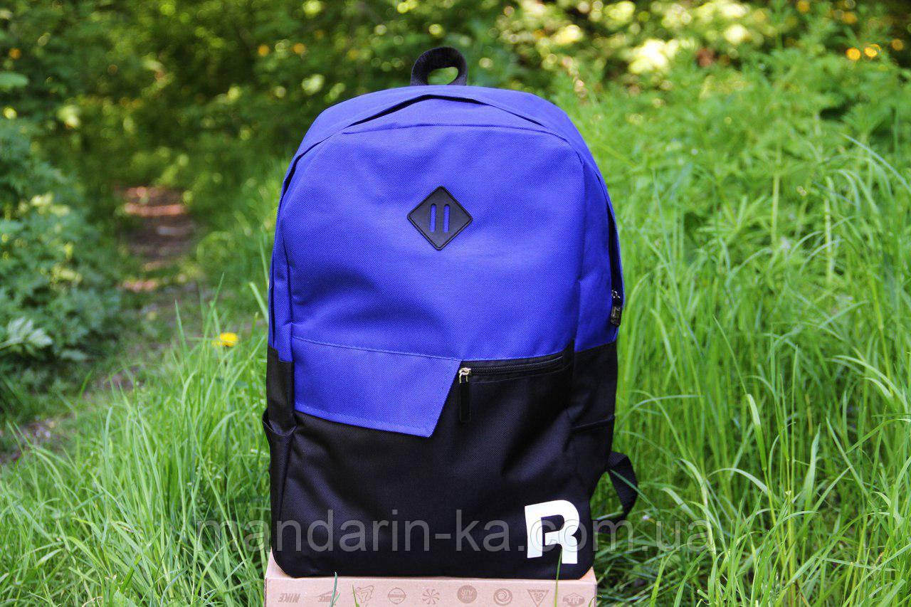Рюкзак городской Reebok Рибок  сине-черный  (реплика)
