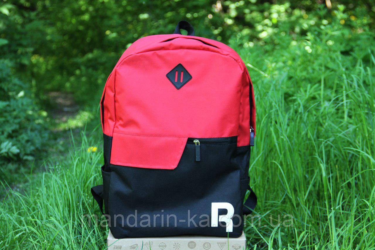 Рюкзак городской Reebok Рибок  красно-черный  (реплика)