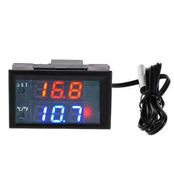 Цифровой термостат терморегулятор W2809 с датчиком температуры, 12V