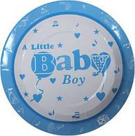 """Тарелка с надписью """"Baby Boy"""" 6 шт"""