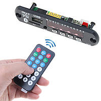 Аудио MP3-плеер FM, Bluetooth, USB, SD модуль 12В с Пультом