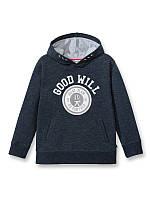 Худи (Франция) темно-синего цвета с начесом для мальчика принт Good Will  8, 10, 14 лет
