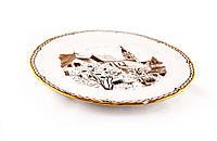 Тарелка с рисунком, фарфор с позолотой