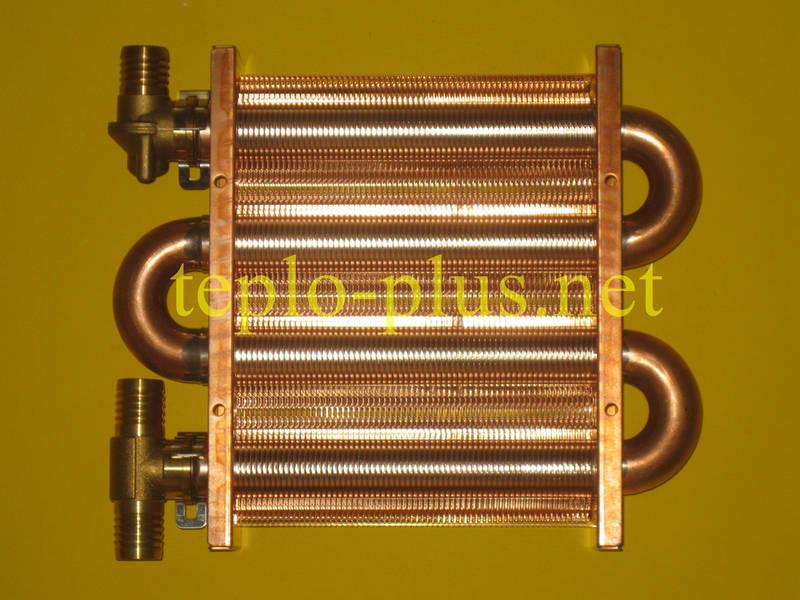 Теплообменник отопления (первичный, основной) 67 Fin Daewoo Gasboiler DGB-100 ICH/KFC/MSC, фото 2