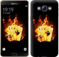 """Чехол на Samsung Galaxy A8 A8000 Горящие карты """"839u-135-12506"""""""