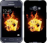 """Чехол на Samsung Galaxy J1 Ace J110H Горящие карты """"839c-215-12506"""""""