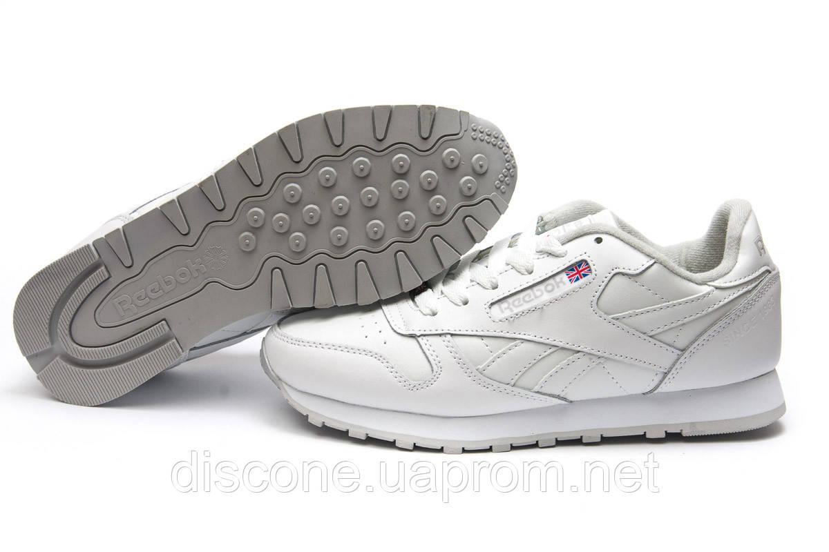 Кроссовки мужские ► Reebok Classic Leather, белые (13881), р. (нет на складе) П Р О Д А Н О! ✔ЧеРнАяПяТнИцА