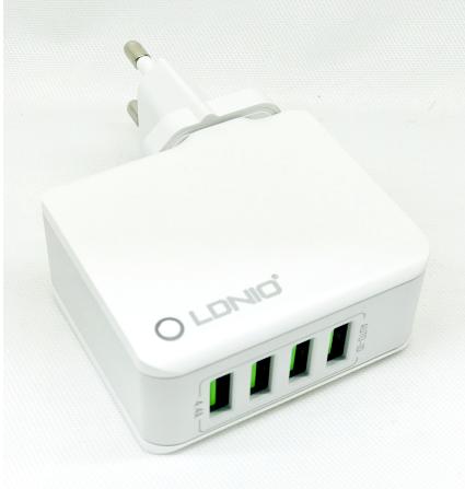 Сетевое зарядное USB устройство LDNIO A4403 (4.4A / 4 USB порта)