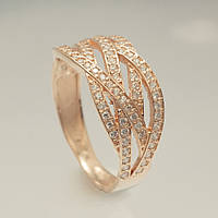 Золотое кольцо с фианитами. КП1697