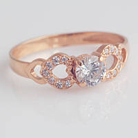 Золотое кольцо с фианитами. КП1670