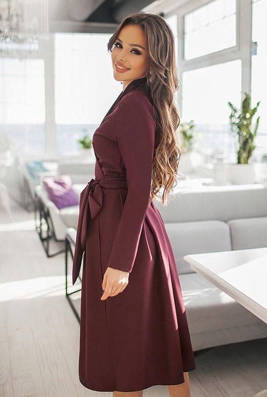1b12ba3132f Женские платья  АВРОРА  бордового цвета 525 грн.