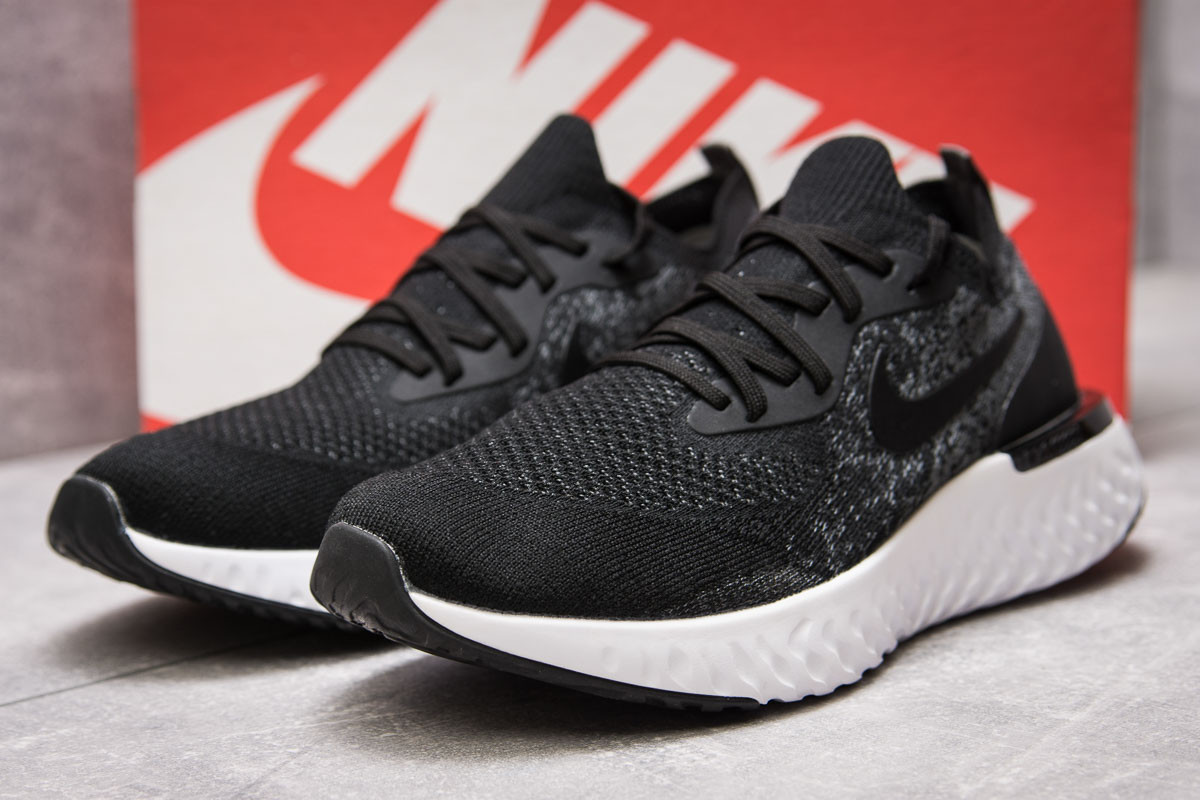 Кроссовки мужские 13763, Nike Epic React, черные ( 42  )