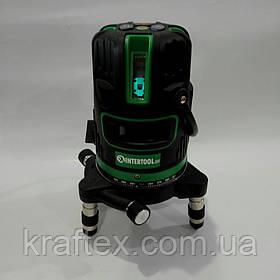 Лазерный нивелир Intertool MT-3008 (Зеленый луч 5 лучей)
