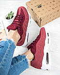 Женские кроссовки Nike Air Max 95 Bordo. Живое фото. Топ качество! (Реплика ААА+), фото 4