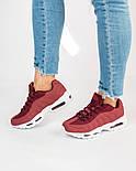 Женские кроссовки Nike Air Max 95 Bordo. Живое фото. Топ качество! (Реплика ААА+), фото 5