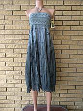 Юбка-сарафан летняя в пол коттоновая CHALIE, фото 3
