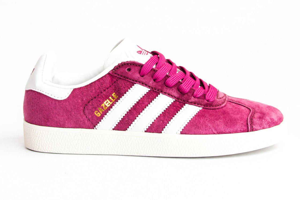 Женские кроссовки Adidas gazelle bold pink. Живое фото. Топ качество! (Реплика ААА+)