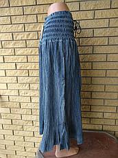 Юбка-сарафан летняя в пол большого размера джинсовая JINHAO JEANS, фото 2