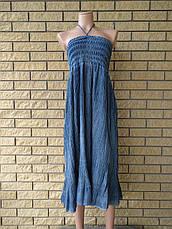 Юбка-сарафан летняя в пол большого размера джинсовая JINHAO JEANS, фото 3