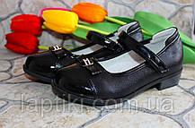 Детские черные туфли для девочки