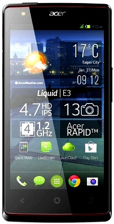 Смартфон Acer Liquid E3 1/4Gb Black Камера 13/2 МП