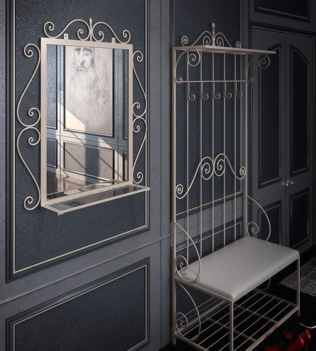 """Комплект кованих меблів АМБЕР (передпокій+дзеркало), виробник фабрика меблів """"TENERO"""""""