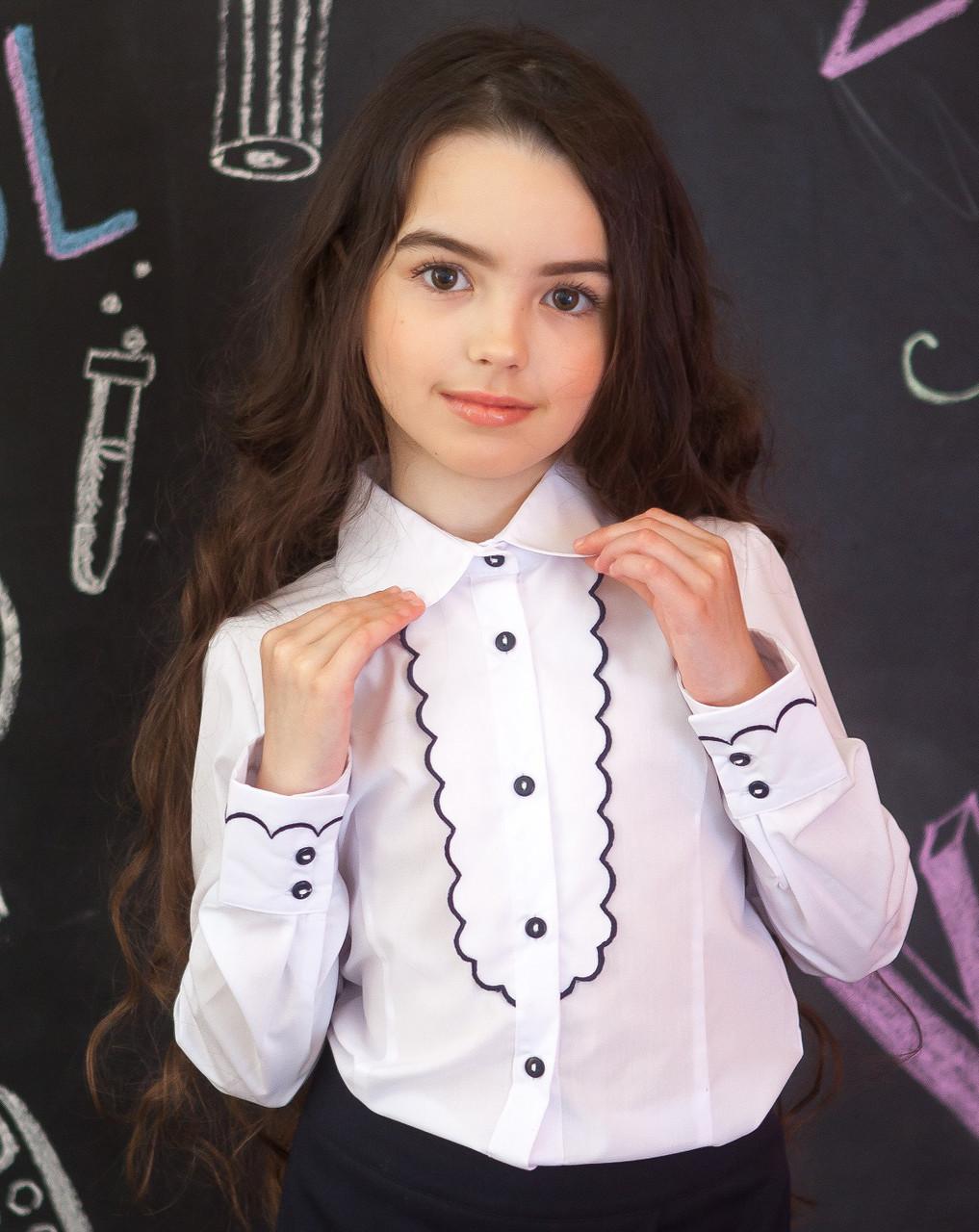 Школьные блузки нарядные р.116-152
