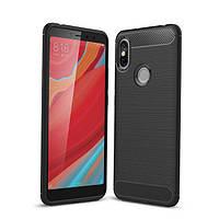 Чехол Carbon для Xiaomi Redmi S2 бампер Black