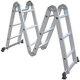 Практика 5х4 (без платформы) лестница трансформер до 5.8 метров, фото 3