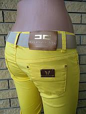 Брюки женские летние коттоновые стрейчевые дизайнерские ELIZABETTA FRANCHI, фото 3