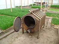 Самодельные печи для отопления тепличных конструкций