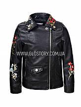 Черная кожанка для девочки , GLO-Story