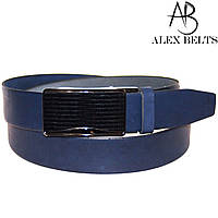 Ремень мужской брючный с зажимной пряжкой кожаный 35 мм - купить оптом в Одессе