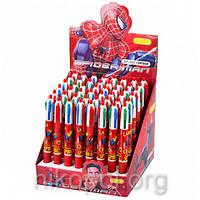 """Ручка детская """"Человек Паук"""" 4 цвета, автоматическая"""