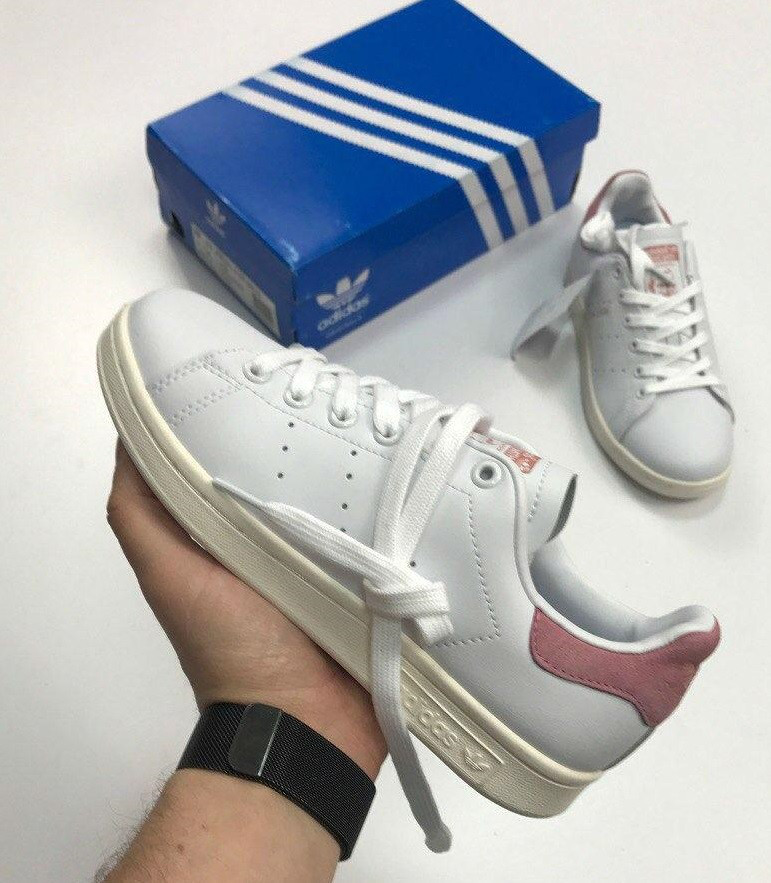 d05a47ba Кроссовки Adidas Stan Smith пудра. Живое фото. Топ Реплика ААА+ - Интернет-
