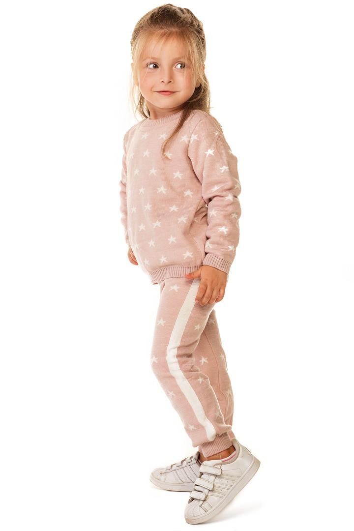 детский вязаный костюм для девочки звездочки цена 395 грн