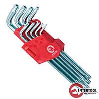Набор Г-образных ключей TORX с отверстием 9шт, Т10-Т50, Cr-V, Big HT-0606
