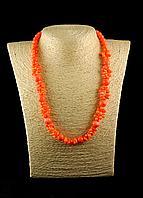 "Намисто з помаранчевого корала "" Ронда, фото 1"