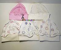 Шапочка-чепчик с рисунком на резиночке для новорожденного, фото 1