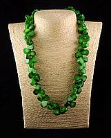 """Бусы из зеленого коралла  """" Зеленое счастье"""", фото 1"""